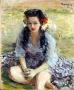 Frumoasa fată cu părul negru și ochi albaștri, 1956